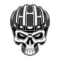 ilustração vetorial de um crânio de ciclista vetor