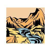 aventura arte paisagem design gráfico vetor