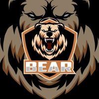 mascote cabeça de urso vetor