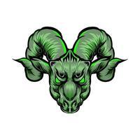 mascote cabeça de cabra vetor
