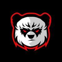 vetor do logotipo do mascote panda