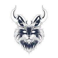 arte de ilustração com tinta de gato vetor