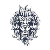 arte de ilustração de leão com tinta vetor