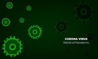 vírus corona em wuhan. vetores corona de vírus. fundo vermelho. ilustração vetorial
