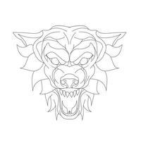 ilustração vetorial desenhada à mão de lobo vetor