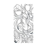 ilustração vetorial desenhada à mão do rosto de Satanás vetor