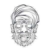 ilustração vetorial desenhada à mão de zumbi vetor