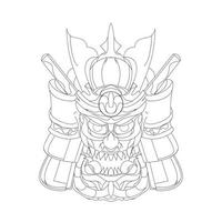 ilustração vetorial desenhada à mão da guerra de samurai vetor