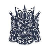 ilustrações de samurai satan com tinta vetor