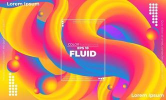 padrão de cor fluida abstrato de fundo gradiente líquido colorido com estilo de movimento dinâmico geométrico moderno adequado para papel de parede, banner, plano de fundo, cartão, ilustração de livro, página de destino, vetor