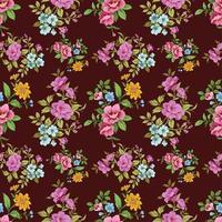 padrão floral sem costura vintage fofo vetor