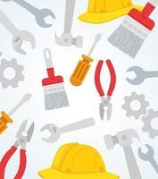 ferramentas e equipamentos padrão de fundo vetor