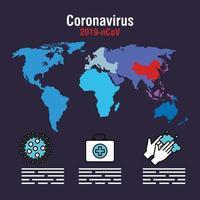 bandeira da pandemia de coronavírus