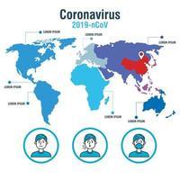 banner de pandemia de coronavírus com médicos