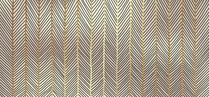 mão abstrata desenhada padrão de arte de linhas douradas em estilo luxuoso de fundo dourado. vetor