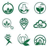 modelo de ícone de design de logotipo natural para conjunto de negócios e empresa vetor