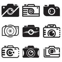 modelo de design de ícone de logotipo de câmera para conjunto de negócios e empresa vetor