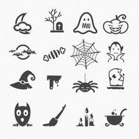 ilustração do conjunto de ícones de halloween