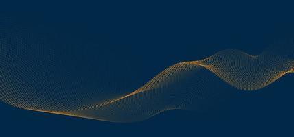 fundo abstrato linhas da onda 3d e partículas fluidas. forma de curva suave, malha de pontos misturados, conceito futurista de tecnologia. vetor