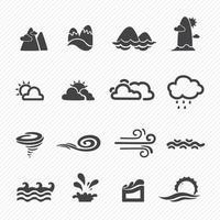 ícones da temporada isolados no fundo branco vetor