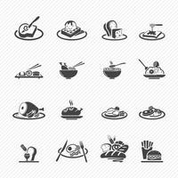 ícones de comida isolados no fundo vetor