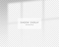 efeito de sobreposição de sombra. sombras naturais da janela vetor