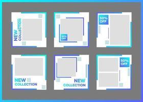 modelos de mídia social e banners para mídia publicitária e promocional vetor