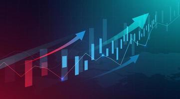 gráfico de gráfico de negociação de investimento no mercado de ações vetor
