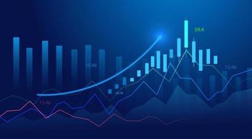 gráfico de gráfico de investimento no mercado de ações vetor