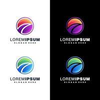 conjunto de design de logotipo colorido vetor