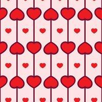 amor coração padrão sem emenda vetor