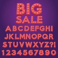 letra do alfabeto desenho animado lâmpada lâmpada marquise vetor