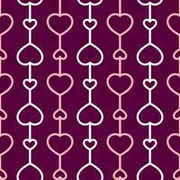 coração amor padrão sem emenda vetor