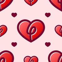 padrão sem emenda de coração vetor