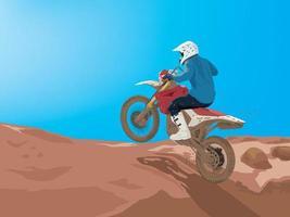 moto esportiva motocross vetor
