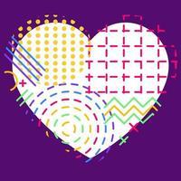 forma de coração geométrica abstrata vetor