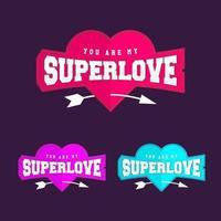 super amor coração amor emblema em estilo esportivo