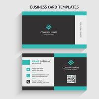 modelo de cartão de negócios moderno frente e verso. design de papelaria, design plano, modelo de impressão, ilustração vetorial.