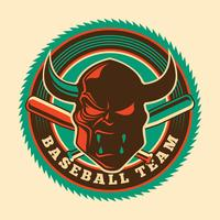 Mascote de beisebol vetor