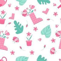 conceito de padrão sem emenda de primavera. padrão floral rosa.