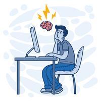 Ilustração vetorial de brainstorming vetor