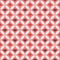 combinação de batik kawung e elemento floral. padrão sem emenda de batik. vetor