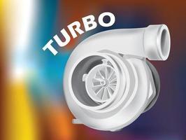 turbo supercharger em ilustração vetorial gráfica vetor