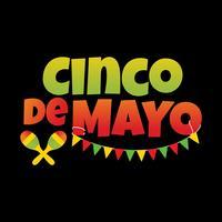 Cartaz de Cinco De Mayo vetor