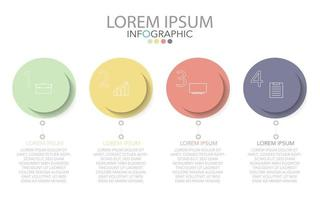modelo de infográfico em quatro etapas, modelo para diagrama, gráfico, apresentação e gráfico.