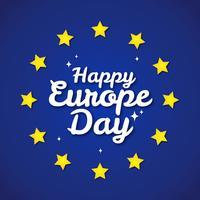 Feliz Dia da Europa vetor