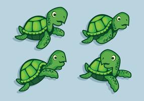 Conjunto de vetores de tartarugas