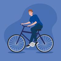 personagem de avatar jovem andando de bicicleta