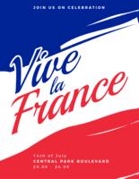 Cartaz de France do La de Vive vetor