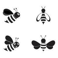 abelha logo ilustração vetorial design vetor